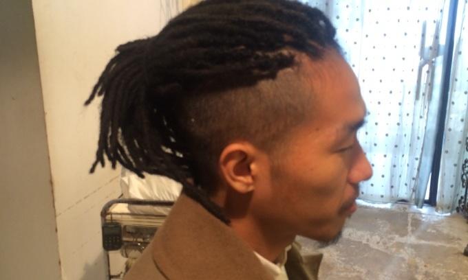 ヘアセットなしのドレッドヘア